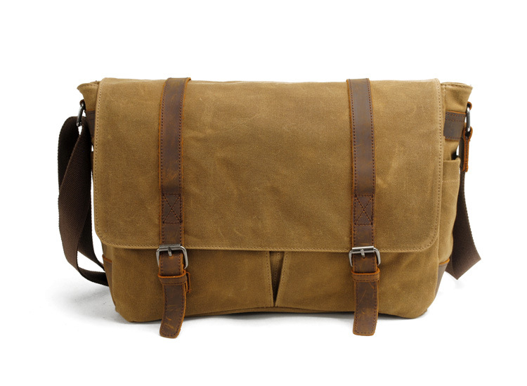 Factory wohlesales 18 Oz waterproof waxy canvas messenger bag ...