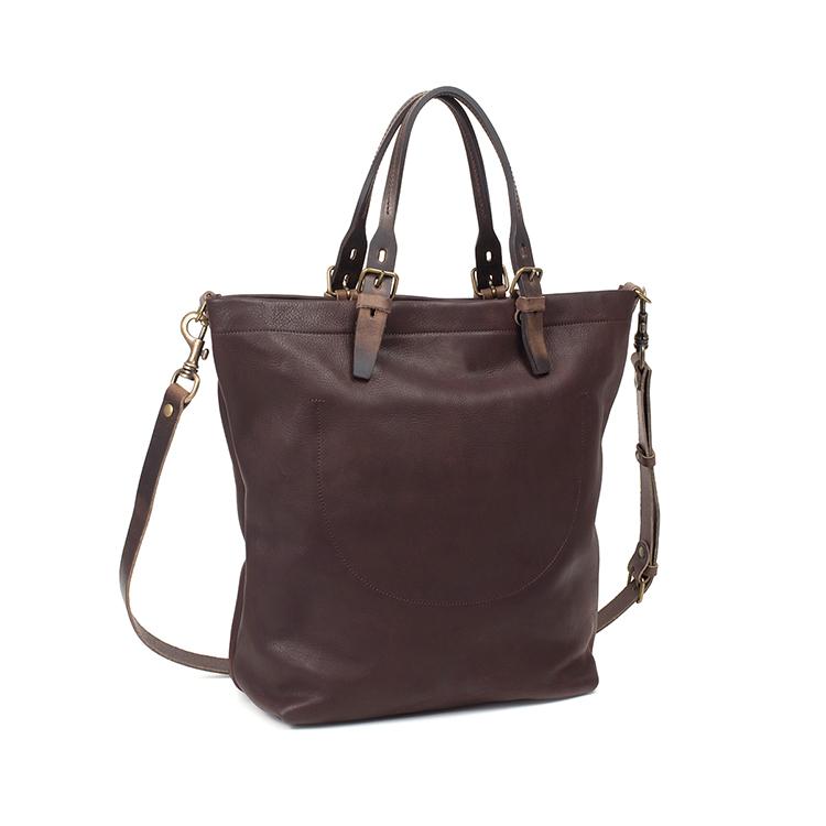 High end fashion design vintage leather tote bag handbag with ...