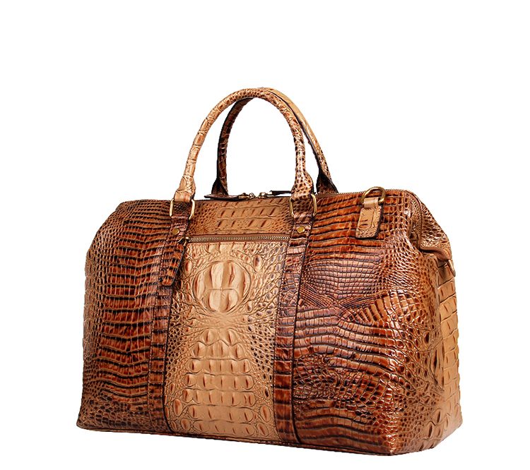 d169118b8451 Luxury customized design croc print leather weekend bag for travelling