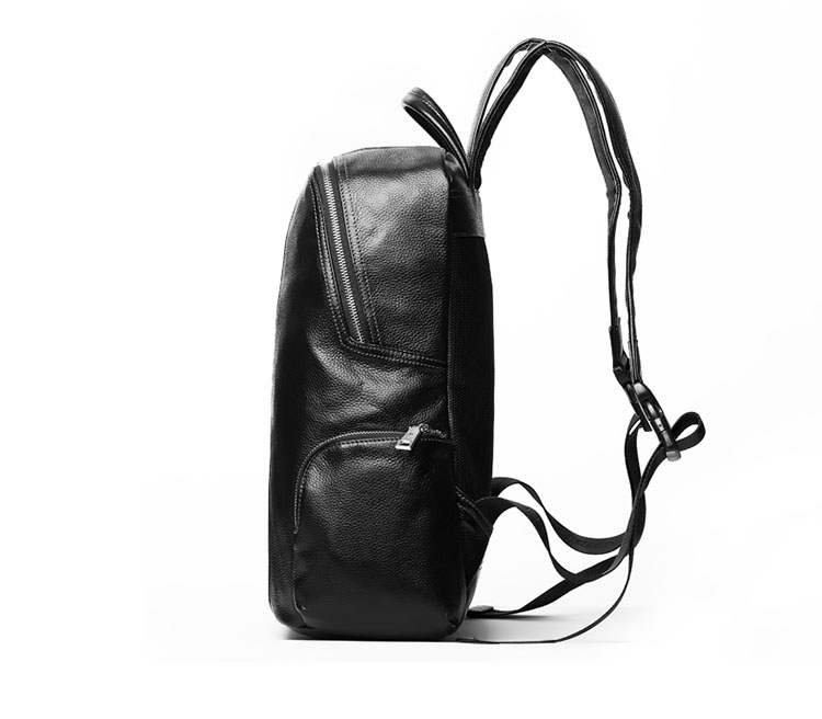Good quality low price full grain leather laptop backpack for men