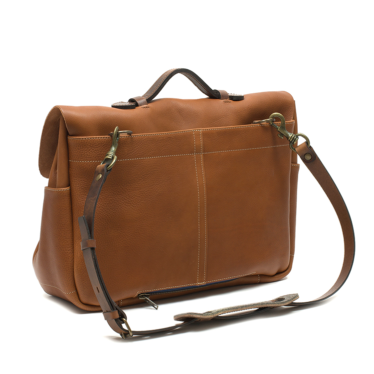 European style vintage vegetable tanned leather crossbody bag for business men