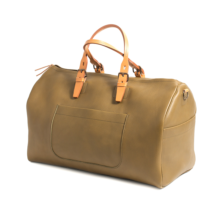 2016 Luxury low price italy olive leather travel weekend bag with shoulder