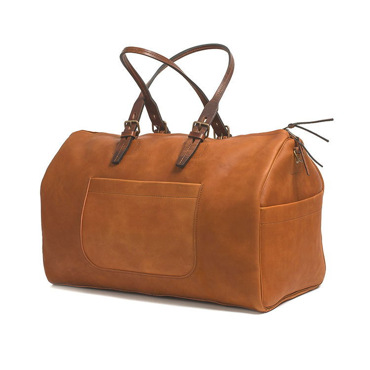 China factory price vintage tan leather duffle bag for business traveling