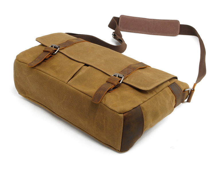 Factory wohlesales 18 Oz waterproof waxy canvas messenger bag camera bag
