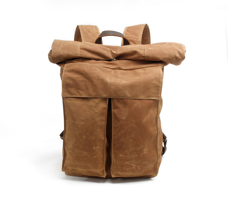 Fashion design cheap price good quality canvas backpack for outdoor