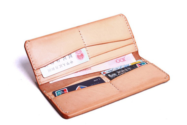 Anese Style High End Vegetable Tanned Leather Purse For Male