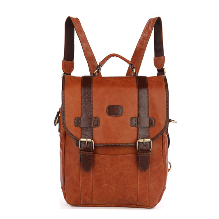 China factory wholesale custom leather high school backpack for girls