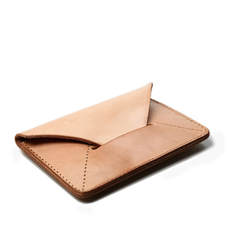 2016 new design vegetable tanned leather business name card holder ...