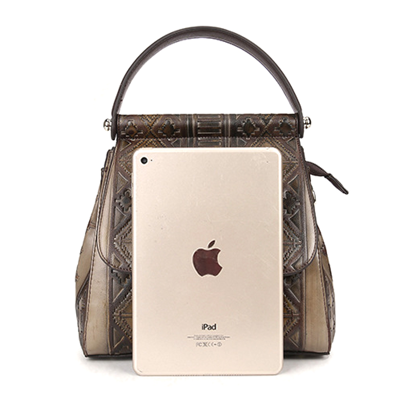 Manufacturer price OEM ODM design good quality brown leather ladies purse women backpack