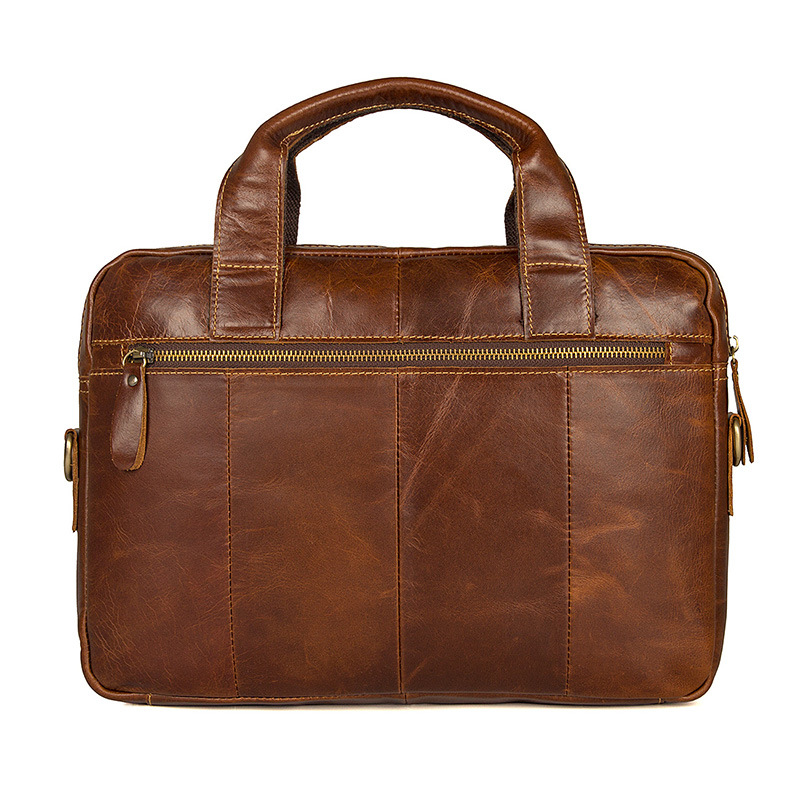 Cheap price good quality brown top layer leather messenger designer bag