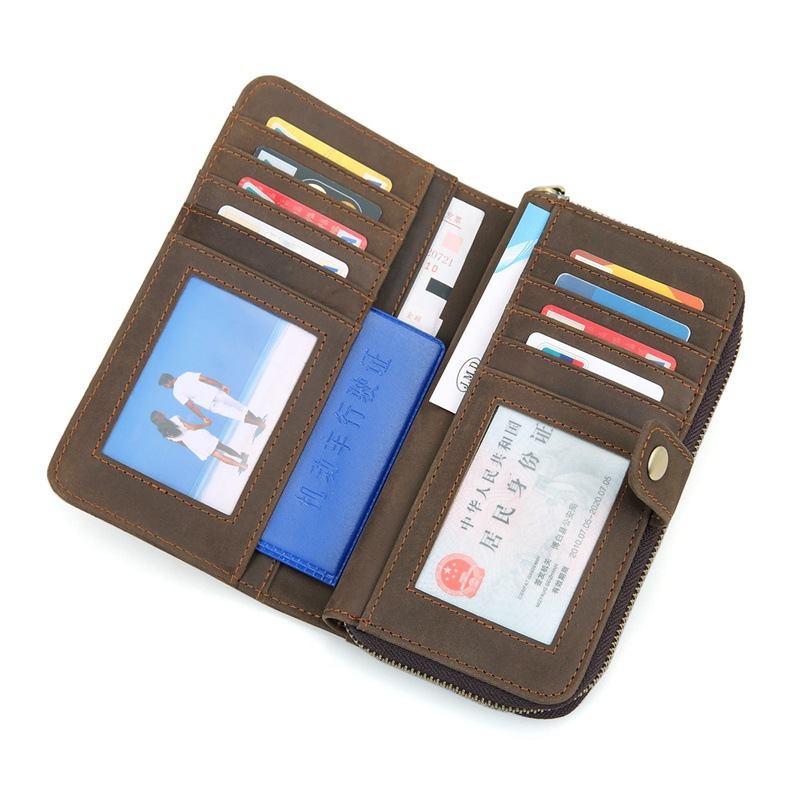 Factory price leisure design genuine leather credit cards wallet for lady
