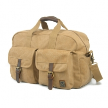 Big brand famous designer fancy khaki canvas leather waterproof bicycle travel bag
