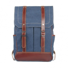 Hot sales high end quality vintage canvas notebook backpack retro for men