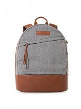 Wholesale price good quality cotton leather school laptop backpack bag
