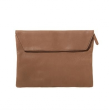 Big brand high end vintage style full grain leather clutch bag