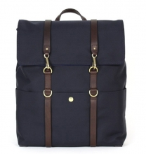 Hot selling high end custom canvas leather school backpack