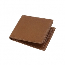 Oem custom design man real leather card wallet with coin bag
