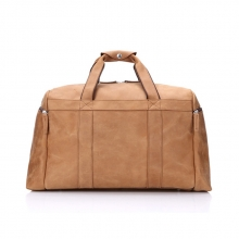 Oem factory price camel color real leather travel duffel bags