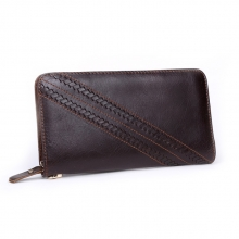 New design vintage rfid leather clutch wallet for men