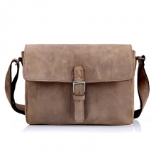 Oem low price vintage style cowhide messenger shoulder handbag