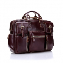 High end good quality leather weekend duffle bag for men
