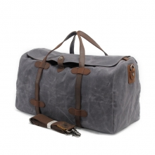 Cheap factory price crazy horse leather waterproof canvas travel bag