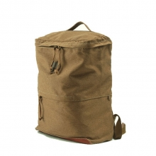 Good quality cheap price canvas with leather school laptop backpack bag