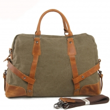 Newest design high end thick canvas leather polo classic foldable car seat travel bag