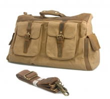 Cheap price good quality canvas leather folding bike travel bag
