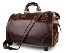 Oem branded high quality vintage genuine leather doctor weekender bag