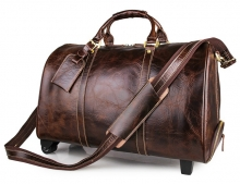 High end handmade genuine leather travel bags suitcase