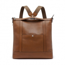 Famous popular design genuine leather laptop backpack bag