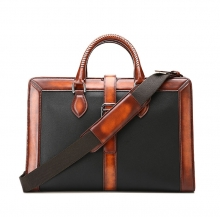 Oem factory price vintage leather duffle bag for business