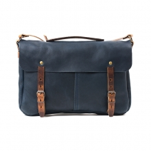 2016 fashion design navy blue leather shoulder messenger bags
