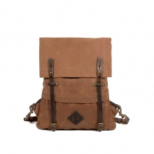 Fashionable daily use vintage brown canvas backpack for school