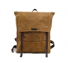 Hot selling vintage design waxy canvas laptop satchel for school boy