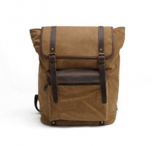 China Manufacturer Durable Canvas Travel Backpack Vintage Canvas Backpack