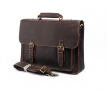 Hot selling good quality vintage crazy horse leather laptop briefcase bag for business men