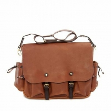 High quality low price oem mens leather shoulder long strip bag handbag
