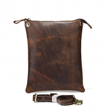 Fashion design vintage style high quality genuine leather shoulder bag