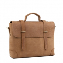 Factory wholesale good quality mens khaki leather briefcase