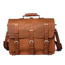 High end top quality vegetable tanned leather camping weekend bag for men