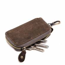 Wholesale price good quality genuine leather key holder case