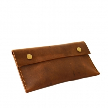 Factory wholesale business gift real leather coin holder wallet bag