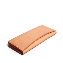 Japanese style high end vegetable tanned leather purse for male