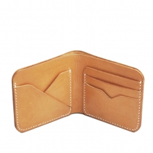OEM custom handmade man vegetable tanned leather wallet manufacturer in guangzhou
