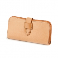 Newest design Japanese style vegetable tanned leather travel wallet for men