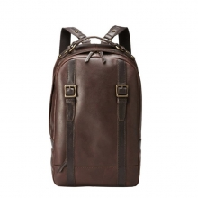 High end low price vintage style real leather laptop backpack bag for men