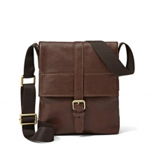 Cheap price good quality vintage genuine leather men over the shoulder long strip bag