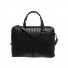Hot sale good quality real leather black weekend polo travel bag